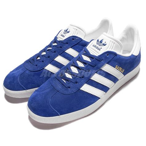 adidas originals gazelle blue white mens vintage shoes classic sneakers  ebay