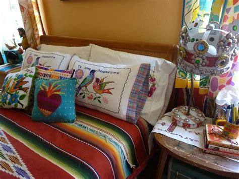 mexican embroidered bedding mexican style guestroom bedding la casa pinterest