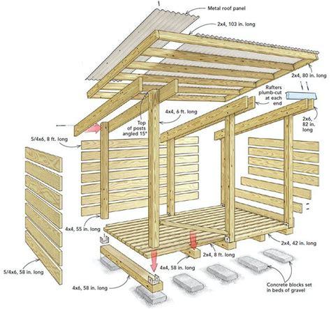 build  streamlined woodshed building  shed roof wood