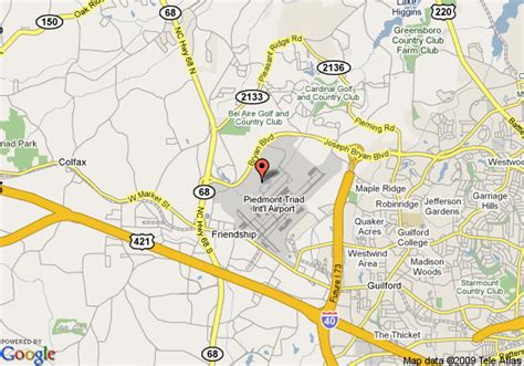 map of marriott greensboro high point greensboro