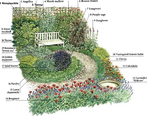 Herb Garden Layout Ideas 89 Best Images About Zone 6 Deer Resistant Garden On Pinterest Gardens Japanese Painted Fern