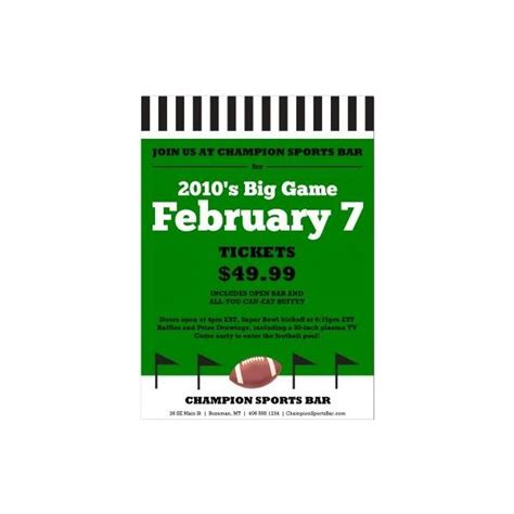 football menu templates top 5 football flyer templates for
