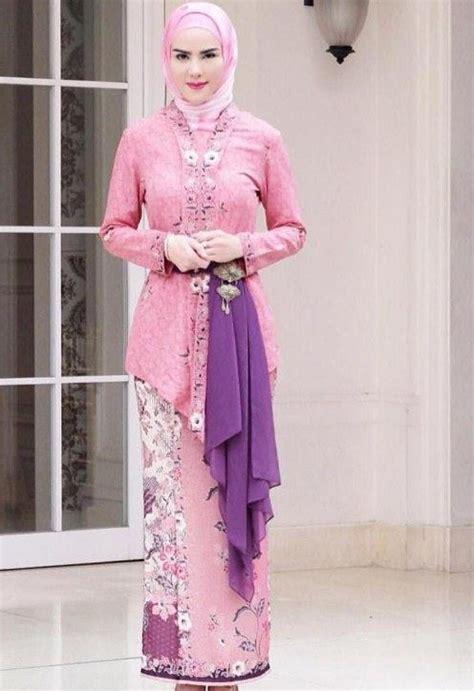 contoh dress kain lees model kebaya modern berjilbab 15 model baju gambarnya