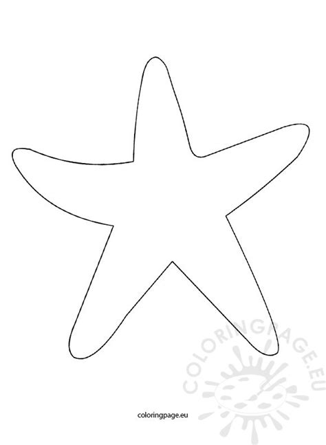 template of starfish starfish template coloring page