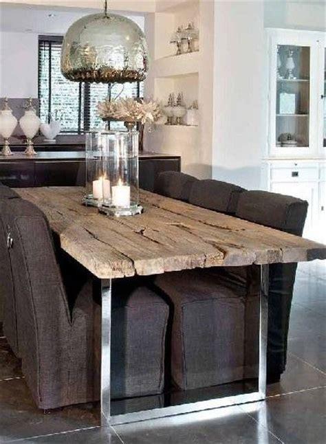 tavolo legno ferro oltre 25 fantastiche idee su tavoli in legno su