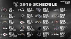 printable raiders schedule 2016 printable indianapolis colts schedule 2016 football