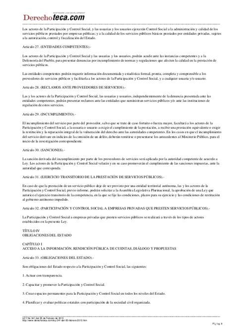 ley de participacin y control social ley n 341 ley del ley 341 de participacion y control social promulgada 05