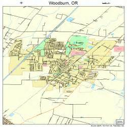 woodburn oregon map 4183750