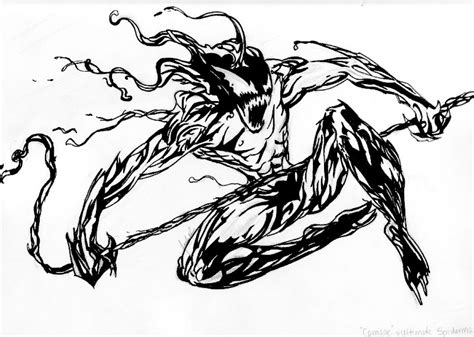 spider carnage coloring page carnage ultimate spiderman by jen m ng on deviantart