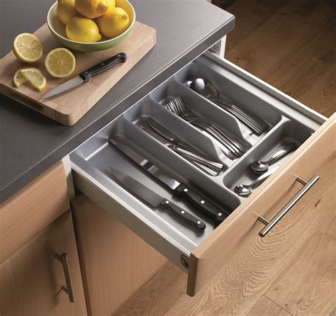 Cutlery Tray For 500mm Drawer by Premium Steel Sides