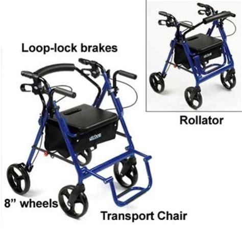 Drive Duet Rollator Transport Chair - drive duet transport wheelchair rollator walker