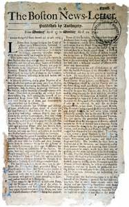 Colonial Newspaper Template by Early American Newspapering The Colonial Williamsburg