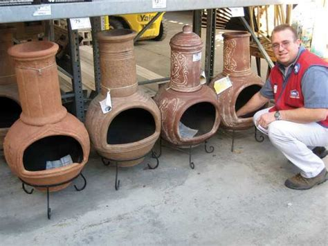 Used Clay Chiminea For Sale Sweeping The Chimineas