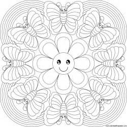flower mandala coloring pages free mandala flower coloring pages