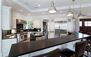 Black Countertop Kitchen Black And White Kitchens Ideas Photos Inspirations