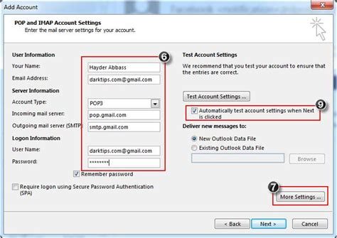 porta imap gmail how to set up gmail in outlook 2013