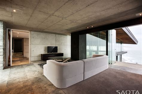 concrete ceiling stunning contemporary home near knysna south africa