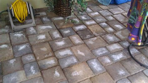 How To Clean Patio Pavers White Buildup On Pavers Hardscape And Masonry Articles