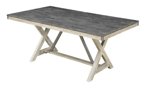 coaster 106321 antique elm dining table with bluestone coaster melbourne dining table antique elm 106321 at homelement