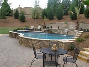 raised pool with waterfalls pool fun pinterest
