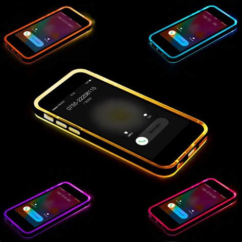Bumper Armor Led Light Hybrid Cover Casing Iphone 6 6s Plus Cool Shockproof Rugged Hybrid Rubber Led Incoming