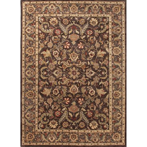 9x12 Area Rugs Classic Pattern Brown Taupe Wool Area Rug 9x12 Walmart