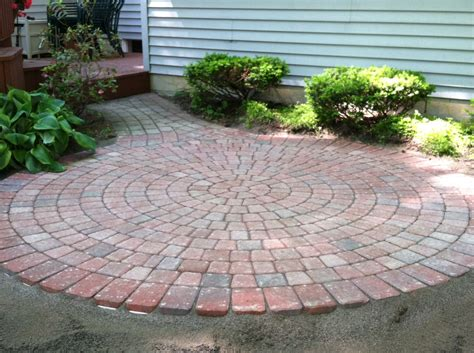 Circular Paver Patio The Best Pattern Of Patio Pavers Ideas Orchidlagoon