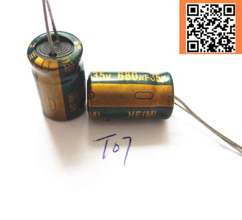capacitor sizes uf 10pcs lot t07 low esr impedance high frequency 35v 680uf aluminum electrolytic capacitor size 10