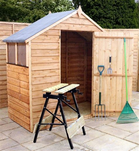 Shed 3 X 6 by Mercia 3 X 6 Overlap Apex Wooden Garden Shed Garden