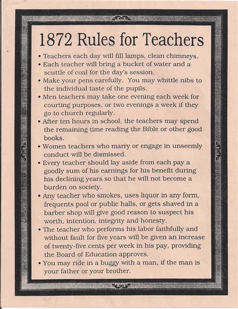 comfort room rules rules for teachers in 1872 1915 no drinking smoking