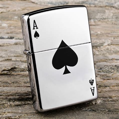 Zippo Lucky Ace zippo 24011 lucky ace high chrome lighter made in