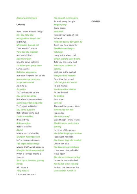 banyak pattern meaning lirik lagu avril lavigne dan terjemahan