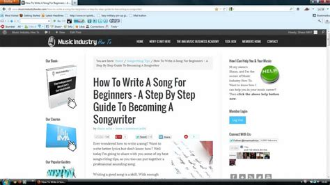 a song how to write a song for beginners a step by step guide