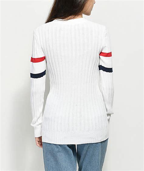 Fila Sweater Gloria White fila toni white sweater zumiez