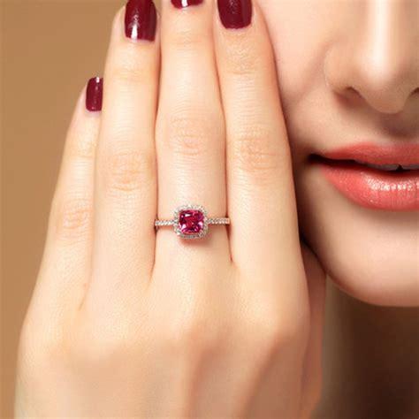 Rubi 6 5 Carat 1 50 carat cushion cut ruby and engagement ring