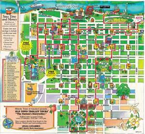 savanah map town trolley route map