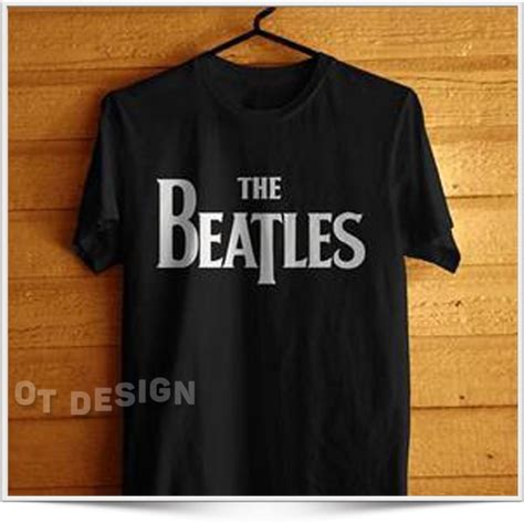 Kaos Distro Iron Hitam jual kaos baju distro band the beatles 1 hitam di lapak ot design ot design