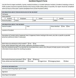 Free Sample Incident Report Form Templates 18 Incident Report Templates Free Word Pdf Format