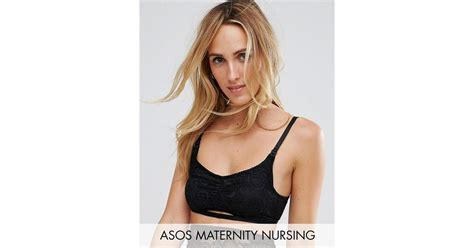 Maternity Lace Bra lyst wolf whistle maternity lace nursing bra in black