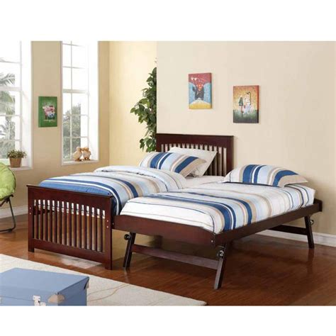 pop up bed salinas wooden and metal twin bed with pop up trundle