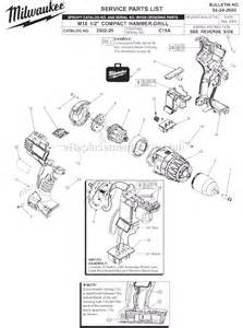 milwaukee 2602 20 parts list and diagram ser c15a ereplacementparts
