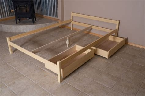organic bedroom untreated wood bed frame ranch