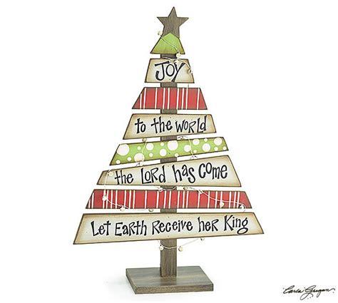 joy to the world decorative wood christmas tree with