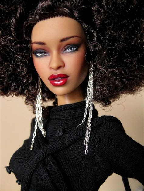 glam black curly hair dolls with beautiful black