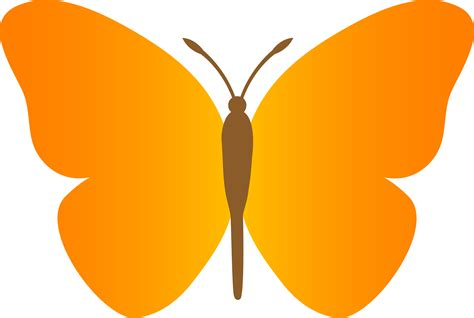 butterfly clipart simple orange butterfly free clip