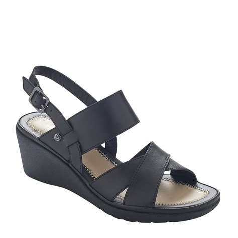 Sandal Wedges Hush Puppies Ori Murah 21 hush puppies random russo black leather wedge sandals sandals hannahs