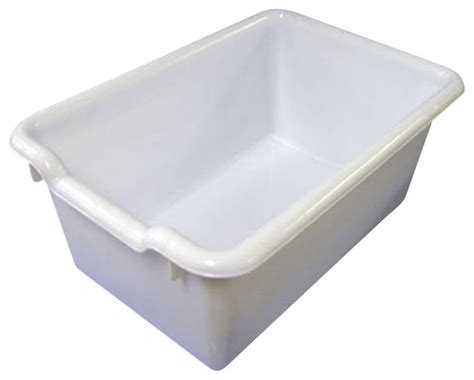 Laundry Tubs With Storage ecr4kids scoop front plastic tote storage bins white pack of 10 contemporary storage bins