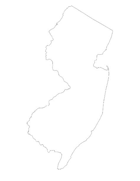 New Jersey State Map Outline by New Jersey State Outline Map Free