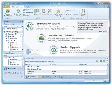 Mac Address Lookup Tool Emco Mac Address Scanner Free 1 0 1 Freeware