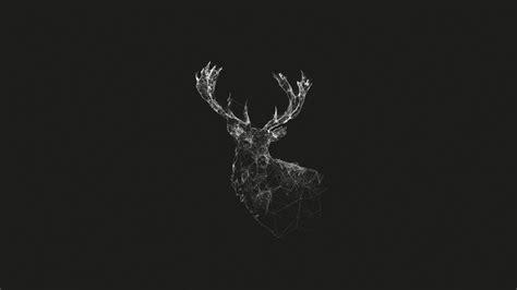 deer pattern iphone wallpaper deer geometry wireframe artwork monochrome